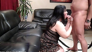 Blowjob by my stepmom
