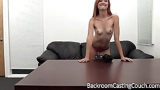 Incredible Redhead First Nuisance Fuck &amp_ Anal Creampie Casting