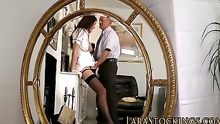 Stockings nurse fucked