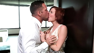 PureMature Horny redhead just wants to suck complete b reach fucked